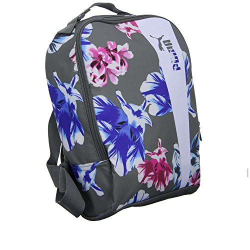 Puma Core style Icon Bag Sac, Steel Gray White Flower Graphic, OSFA