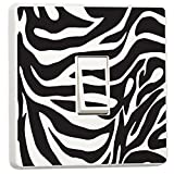 Zebra Schwarz & Weiß Licht Schalter