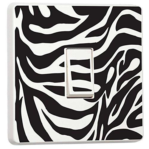 Zebra Black & White interruttore luce adesivo