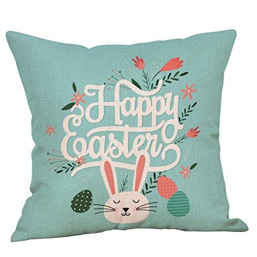 UFACE Easter Bunny Eggs Leinen Kissenbezug Home Decor Kissenbezug 2019