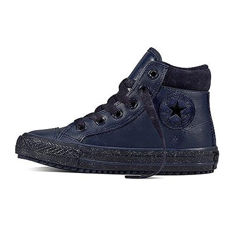 Converse Ctas Hi PC Leather, Baskets Hautes Mixte Enfant, Blu (Midnight Navy/Inked/Black), 32 EU