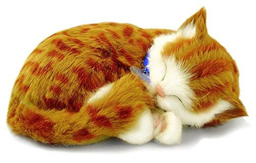 Perfect Petzzz 65431 - Peluche interactivo de gato (25 cm, efecto de respiración)