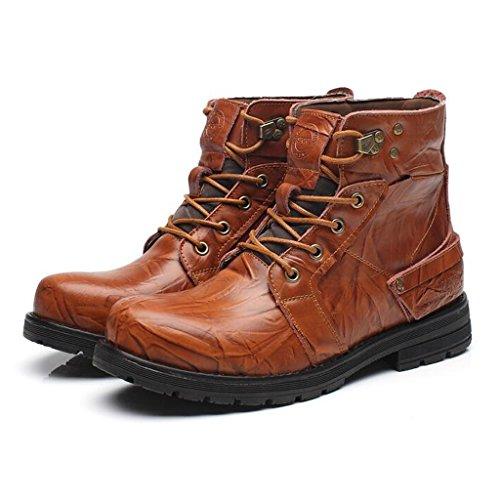 Stivali Da Uomo In Peluche Plus Da Uomo Stivali Per Utensili Casuali Scarpe Da Trekking E Da Trekking A Tomaia 38-44 Light Brown