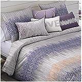 Textilhome - Funda Nórdica Fantasia BOND + 2 Funda Almohada - Cama 180/200cm - Color Malva