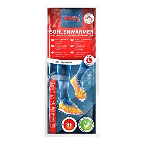 The HEAT company Sohlenwärmer SELBSTKLEBEND 8 Stunden Wärmedauer Wärmesohle Fußwärmer Schuhheizung Fußheizung, LARGE, Grösse 41-46; 5 Paar - 2
