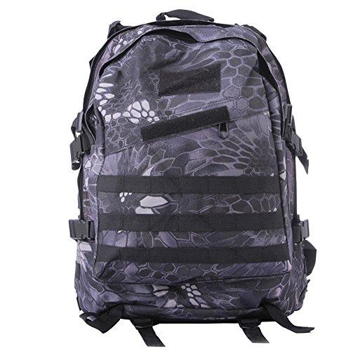 ELEAR® Trekking Outdoor Donna e Uomo con Protezione Impermeabile per alpinismo arrampicata equitazione ad Alta borsa da viaggio pitone nero