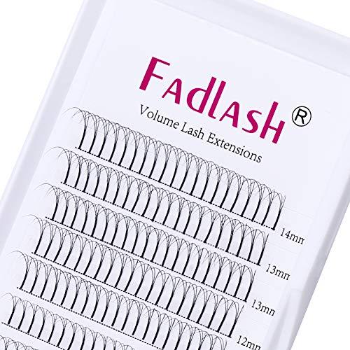 Fadlash estensioni ciglia 3d 0.07mm c curl 8-14mm russa cluster ciglia individuali ciglia estensioni