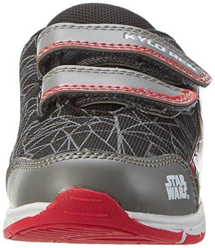 Star Wars Sw001143, chaussons d'intérieur garçon Schwarz (M.GREY/Black 023)