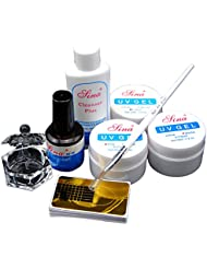 Mode Galerie Kit Manucure Débutant Gel UV Kit Cleanser plus Ongles Pinceaux Topcoat Verre Ongle Outils