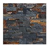 W-009 Wand-Design Verblender Schiefer Wandverkleidung Steinwand -1 Muster - Natursteinwand - Fliesen Lager Verkauf Stein-Mosaik Herne NRW