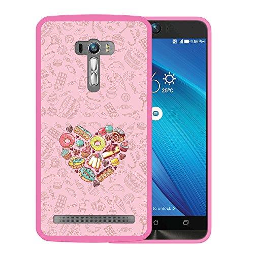 Asus Zenfone Selfie ZD551KL Hülle, WoowCase Handyhülle Silikon für [ Asus Zenfone Selfie ZD551KL ] Süße Herzen Handytasche Handy Cover Case Schutzhülle Flexible TPU - Rosa