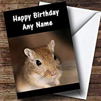 Gerbil Personalised Birthday Card