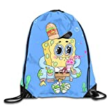 Drempad Tunnelzug Rucksäcke, Spongebob Drawstring Backpack Bag Beam Mouth Yoga Sackpack Rucksack...