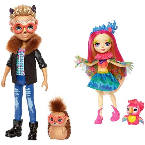 Enchantimals FJJ22 Igeljunge Hixby Hedgehog Puppe & Mattel  Games FJJ21 Enchantimals Papageienmädchen Peeki Parrot Puppe