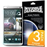[HD CLARITY] Invisible Defender - HTC One Max (T6) Screen Protector Premium HD Crystal Clear Film with [3 PACK/Lifetime Replacement Warranty] High Definition Clarity Film The World's Best Selling Premium EXTREME CLEAR Screen Protector for HTC One Max (T6)