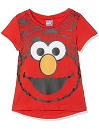 Puma Niños Sesame Street Graphic Tee–Camiseta, infantil, Sesame Street Graphic Tee, high risk red, 4 años (104 cm)