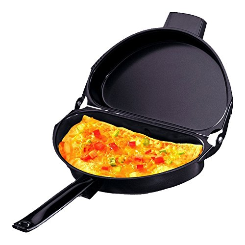 All Clad Omelette Pan (Folding Pan, Faway Portable Non-stick Omelette Folding Pan Stainless Iron Double Side Grill Kitchen Breakfast Pot)