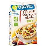 Bjorg Cereales Muesli con Frutas, sin Azúcar - Paquete de 12 x 375 gr - Total: 4500 gr