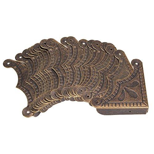 DN Scrivania Bordo pacchetto della copertura di 20 Antique Decorative Box angolare Protezioni 39x9mm