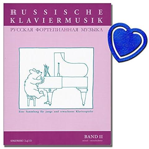 Russische Klaviermusik Band 2 - Eine Sammlung für junge und erwachsene Klavierspieler - Klavier Noten mit herzförmiger Notenklammer