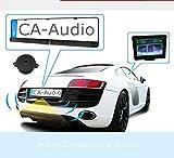 Einparkhilfe Funk Kabellos mit Monitor Rückfahrsystem universal integriert Nummernschild Kennzeichen Halterung hinten Sensoren PDC nachrüsten und einbauen für Garage Auto PKW KFZ YMPA EH-NSKFS