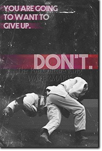 Judo motivacional, póster o afiche. 03 'You are going to want to give up...' Lámina original para regalo con cita de motivación impresa en papel de fotografía 30x20 cm Judoka Japan Japanese Kata