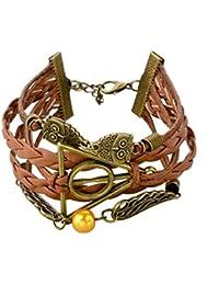 Bracelet Harry Potter infini hiboux ailes d'ange Deathly Hollows infinity