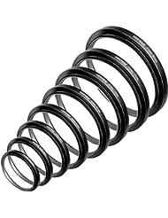 Juego de aros de Neewer de filtro up 49-52-55-58-62-67-72 -77 millimeter 7 piezas 49mm-77mm parasol