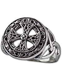 etNox-Ring ''Silver Celtic Cross'' 925 Silber