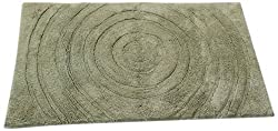 Textile Décor Castle Hill Bath Mat with Spray Latex Backing, Echo Design, 17 by 24-Inch, Sage