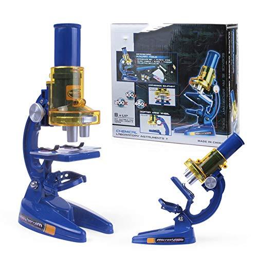 Chengzuoqing Kindermikroskop Beste Student Mikroskop Optische Glaslinse Vollmetallrahmen Student Microscope + Anfänger der Kinder Mit Metallkörper Mikroskop Bildungs- und Wissenschaftsspiele (Kinder Für Mikroskop Beste)