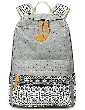 Minetom Mädchen Damen Schulrucksack Schulranzen Muster Schultasche Rucksack Freizeitrucksack Daypacks Backpack