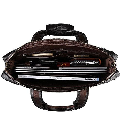 Borsa Per Laptop Valigetta Padieoe Grande? Con Borsa Da Lavoro Rimovibile Con Tracolla Vera Pelle Marrone Marrone