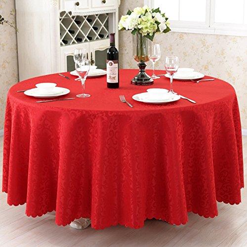 454241434 Home Hochzeit Restaurant Party Tischdecke, Runde Tischdecken Wischen Sie sauber Hitze und Feuchtigkeitsbeständigkeit [Chemical Fiber Washable], B, 240cm