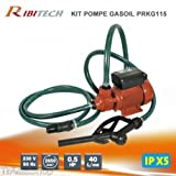 Ribitech–Pompe à gasoil RIBITECH prkg11540L/min pour transfert carburant Diesel Essence
