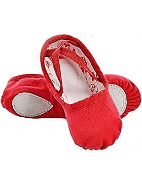 [Sponsorizzato]s.lemon Scarpe Danza Double Layer Canvas Morbido Scarpe da Ballo Scarpette da Danza Ballerina con Suola Diviso...