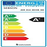 sebson® 4er Pack E14 LED 5W COB Lampe - vgl. 35W Halogen - 420 Lumen - warmweiß - LED Spot 36° - 230V