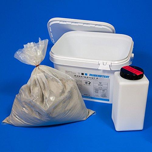 Orig. Ruberstein® Ankermörtel F hochfest 2K, 2 Eimer à 6 kg zum Einbetten der Spiralanker