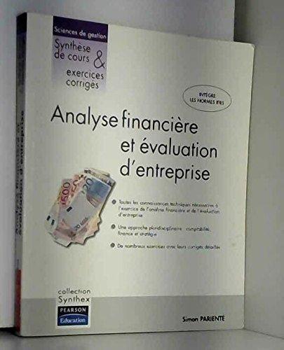 Analyse financière et évaluation d'entreprise par Simon Parienté