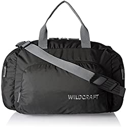 Wildcraft Nylon 18 Inch Black Travel Duffle (Orbit Nova 2_Black S)