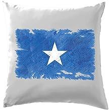 """Somalie Drapeau Style Grunge–Coussin–41x 41cm (40,6cm)–10couleurs, 100 % coton, blanc, 41 x 41cm (16"""")"""