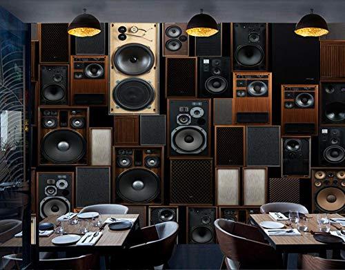 Benutzerdefinierte Foton für Wände 3 D europäischen Retro Ktv Sound Lautsprecher Wand 3Dn Wohnkultur 137,7 X 100,7 Zoll ()
