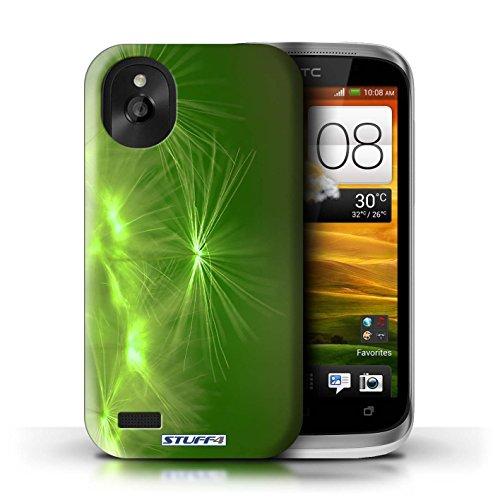 Kobalt® Imprimé Etui / Coque pour HTC Desire X / Vert conception / Série Allumez la vie Vert