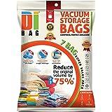 DIBAG ® 7 - Bolsas de ahorro de estacio para almacenamiento, comprimidas al vacío. Pueden utilizarse para ropa, edredones, ropa de cama, almohadas, cortinas y más. 2 Medium (57x45 cm), 2 XL (85x54 cm), 2 XL ( 100x67 cm), 1x(57x45 cm) bolsas de viaje sin aspiración