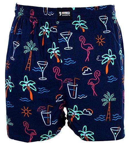 Happy Shorts Webboxer Herren Boxer Motiv Boxershorts Farbwahl, Grösse:XL - 7-54, Präzise Farbe:Design 34 -
