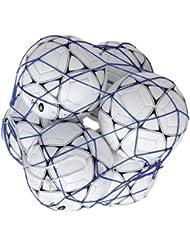 Filet pour 6 ballons de football de couleur bleu - Visiodirect-