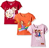 #9: Chhota Bheem Girls' T-Shirt (Pack of 3)