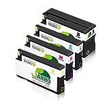 JARBO 953XL Remanufacturéd HP 953 953XL Cartouches d'encre Compatible avec HP Officejet Pro 8710 8720 8715 8730 8725 7740 8740 8218 8718 8719(2 Noir 1 Cyan 1 Magenta 1 Jaune)