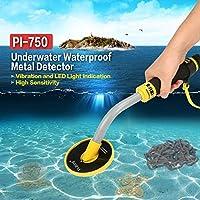 HermosaUKnight PI-750 Detector de Metales Impermeable a Prueba de Agua Debajo del Agua Búsqueda