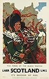 Herbé TM LNER Scotland LMS Cornemuse R691-Poster/Reproduction 40x60cm d1 Affiche Vintage/Ancienne/Rétro...